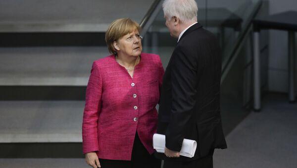 Angela Merkel i Horst Seehofer - Sputnik Polska