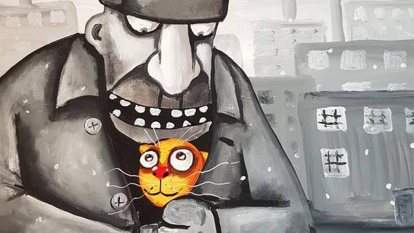 Rysunek rosyjskiego artysty Wasi Łożkina - Sputnik Polska