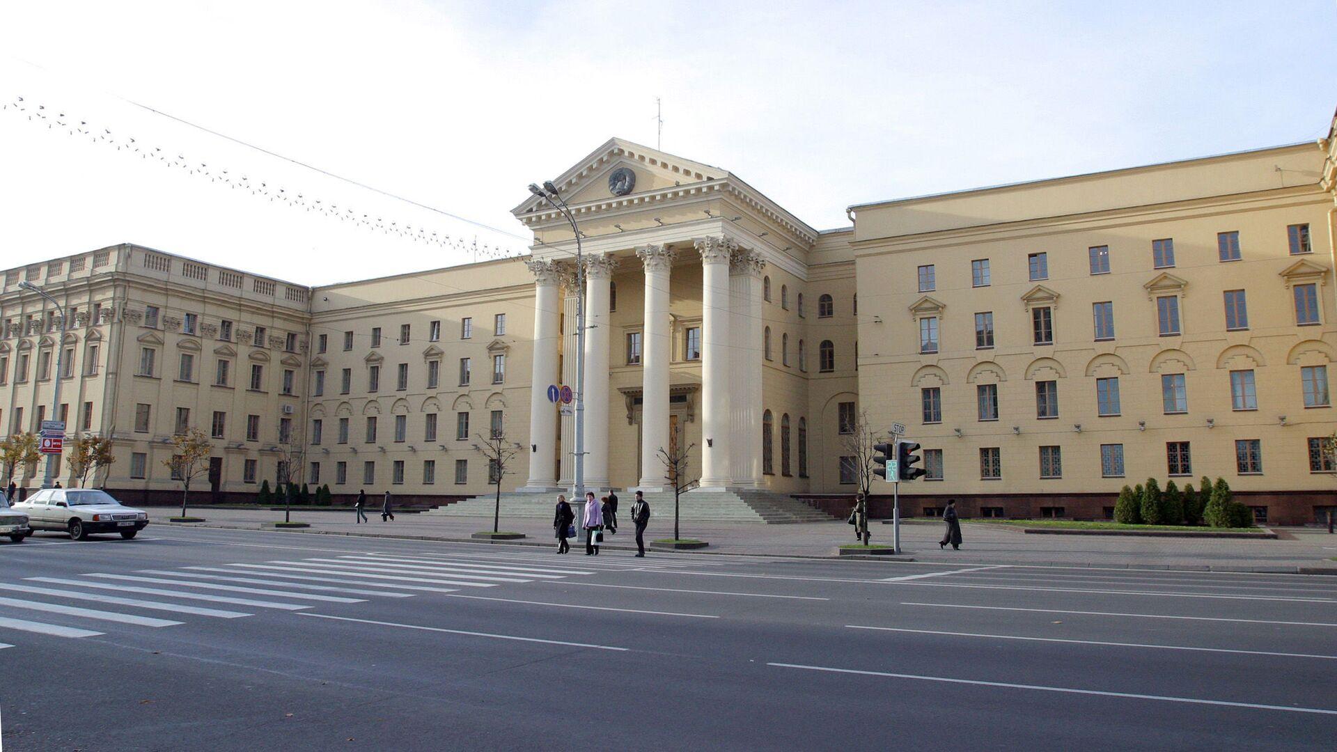 Budynek KGB na Białorusi w Mińsku  - Sputnik Polska, 1920, 08.09.2021