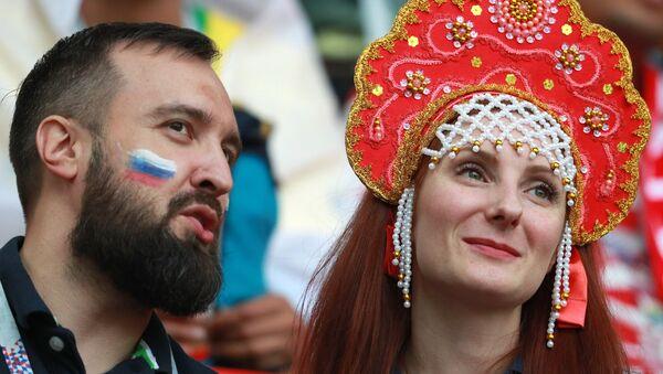 Rosjanie kibicują Polsce na meczu Polska-Senegal - Sputnik Polska