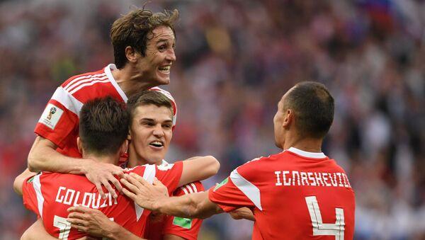 Mecz fazy grupowej Mistrzostw Świata w Piłce Nożnej między reprezentacjami Rosji i Arabii Saudyjskiej - Sputnik Polska