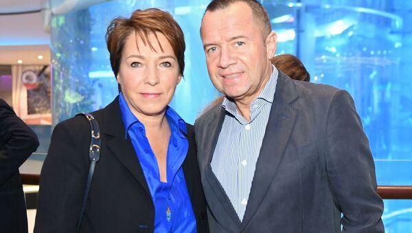 Córka Borysa Jelcyna Tatiana Diaczenko i jej mąż Walentin Jumaszew - Sputnik Polska