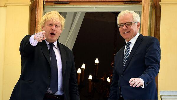 Boris Johnson i Jacek Czaputowicz - Sputnik Polska