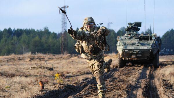 Manewry NATO na Litwie. Zdjęcie archiwalne - Sputnik Polska
