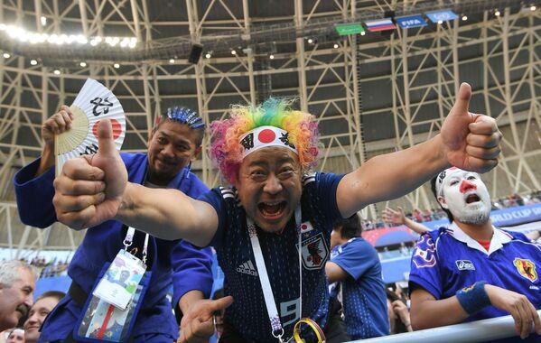 Kibice reprezentacji Japonii na meczu MŚ 2018 Kolumbia-Japonia - Sputnik Polska