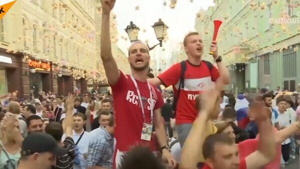 Kibice po meczu Rosja-Hiszpania - Sputnik Polska