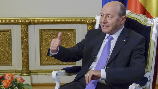 Były prezydent Rumunii Traian Basescu - Sputnik Polska