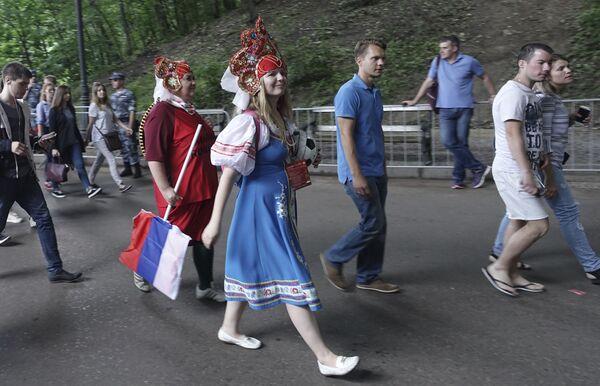 Kibice przybywają na mecz Rosja - Hiszpania - Sputnik Polska
