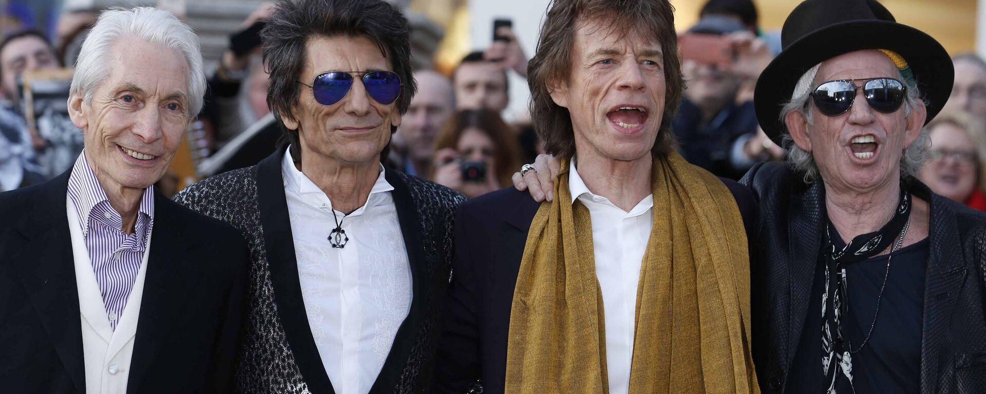 Rolling Stones: Charlie Watts, Ronnie Wood, Mick Jagger i Keith Richards - Sputnik Polska, 1920, 24.08.2021
