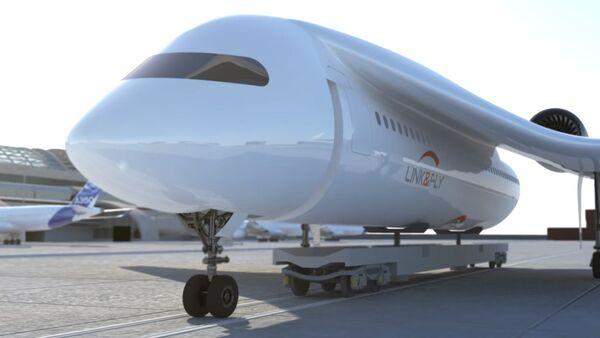 Samoloty francuskiej firmy AKKA Technologies Group, który może przekształcić się w pociąg - Sputnik Polska