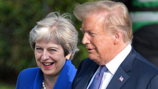Donald Trump i Theresa May - Sputnik Polska