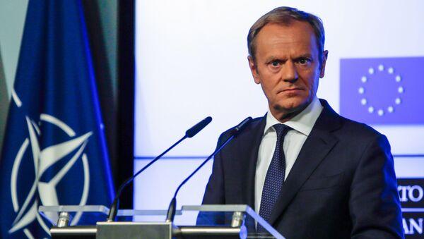 Przewodniczący Rady Europejskiej Donald Tusk na szczycie NATO w Brukseli - Sputnik Polska
