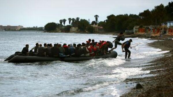 Afrykańscy imigranci na greckiej wyspie Kos - Sputnik Polska