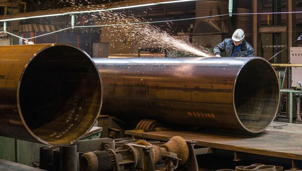 Produkcja rur dla gazociągu Nord Stream-2 - Sputnik Polska