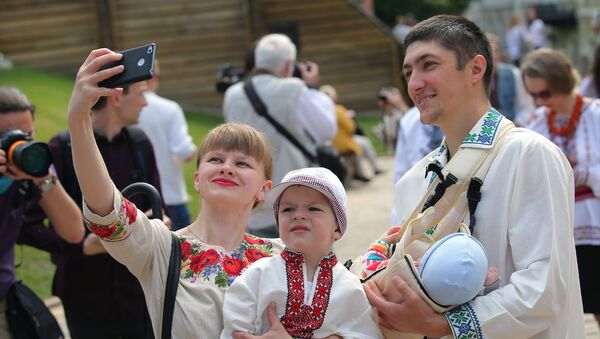 Marsz wyszywanek w Kijowie - Sputnik Polska