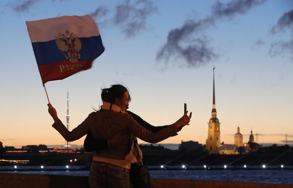 Białe nocy w Petersburgu - Sputnik Polska