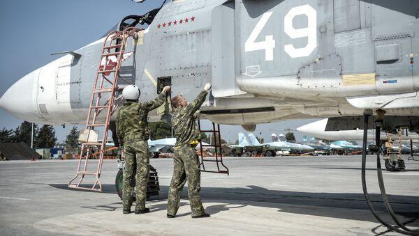 Rosyjska baza lotnicza Hmeimim w Syrii - Sputnik Polska