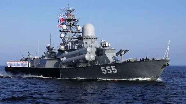 Główna Parada Marynarki Wojennej Rosji. Okręt Gejzer - Sputnik Polska