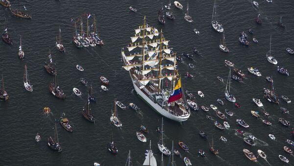 Parada statków SAIL Amsterdam w Holandii - Sputnik Polska