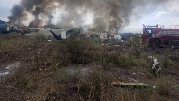 Samolot, który uległ katastrofie w Meksyku - Sputnik Polska