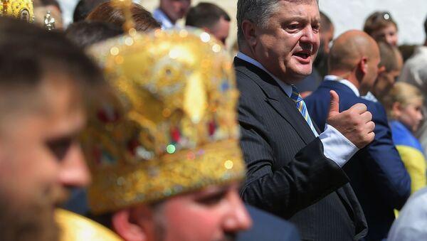 Prezydent Ukrainy Petro Poroszenko na obchodach 1013-lecia Chrztu Rusi - Sputnik Polska