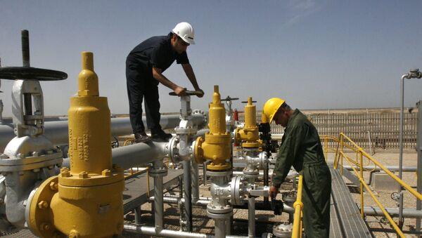 Robotnicy na złożach Azadegan w Iranie - Sputnik Polska
