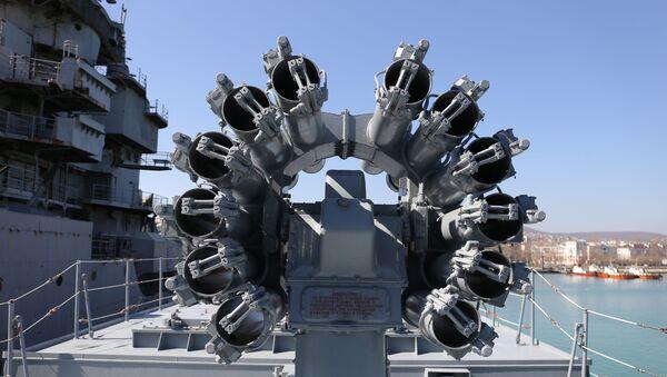Wyrzutnia Kalibr na fregacie Admirał Grigorowicz marynarki wojennej Rosji - Sputnik Polska