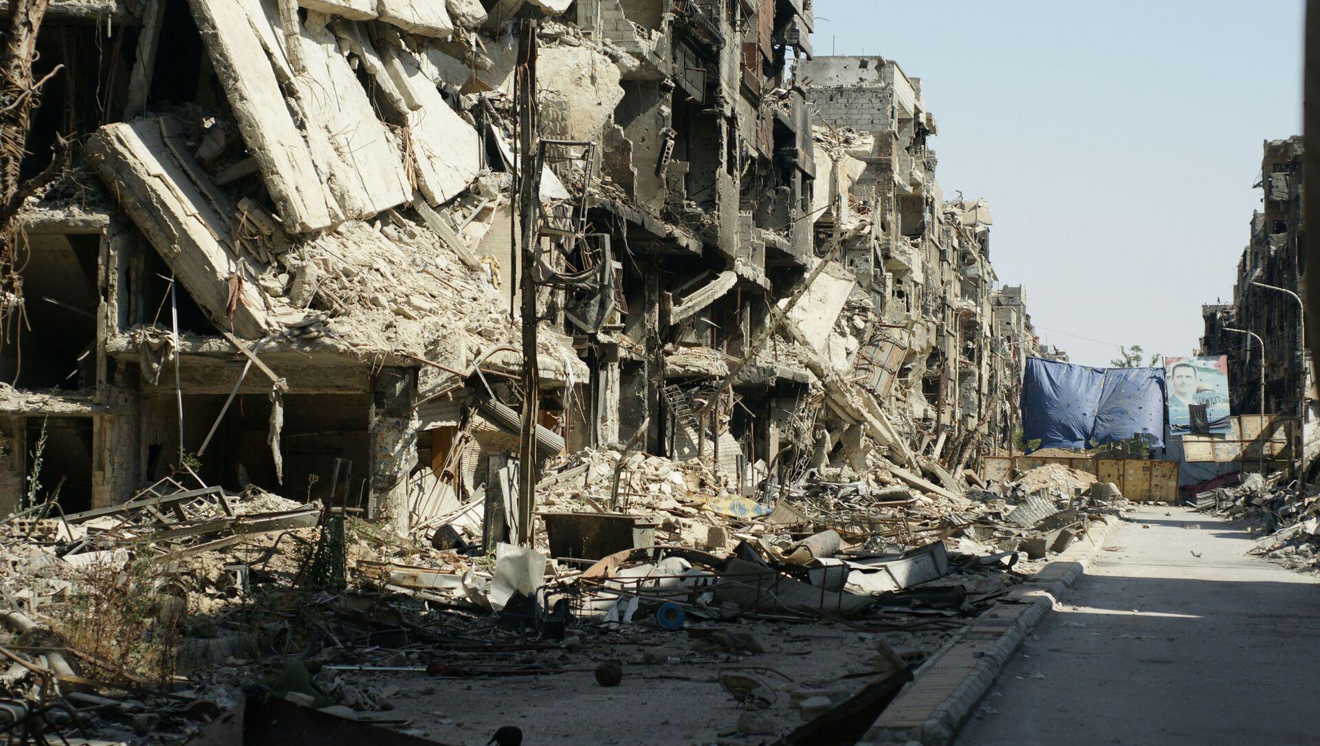 Zniszczenia w Damaszku, Syria - Sputnik Polska, 1920, 19.04.2021