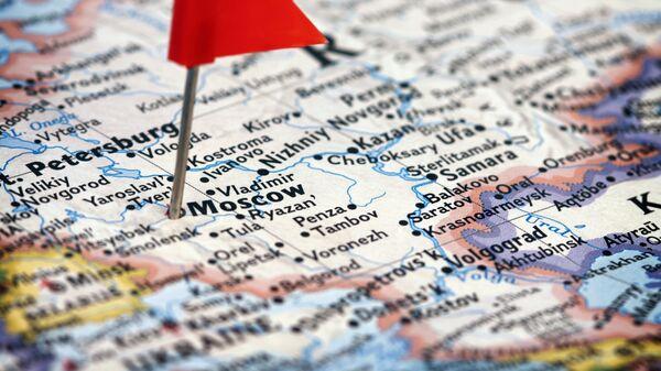 Moskwa na anglojęzycznej mapie Rosji - Sputnik Polska