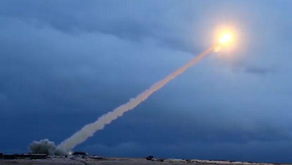Testy rakiety manewrującej z napędem jądrowym Buriewiestnik. Zdjęcie archiwalne - Sputnik Polska