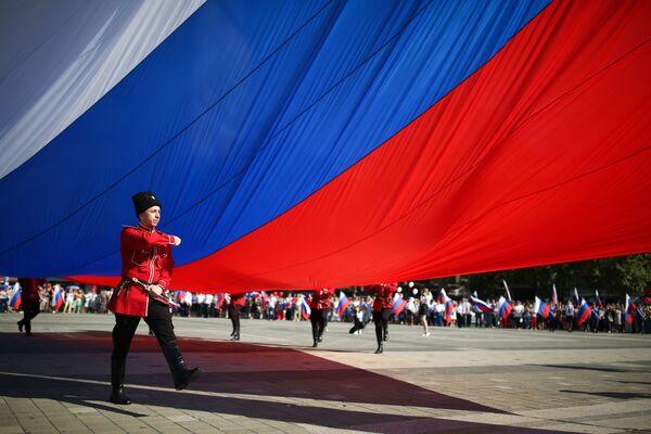 Dzień Flagi Państwowej w Rosji - Sputnik Polska