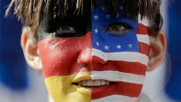 Flagi USA i Niemiec - Sputnik Polska