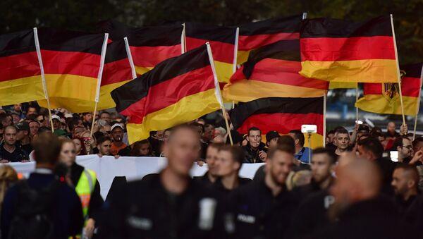 Protesty w Chemnitz - Sputnik Polska