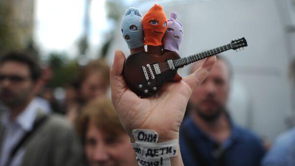 Demonstracja w obronie zespołu Pussy Riot - Sputnik Polska