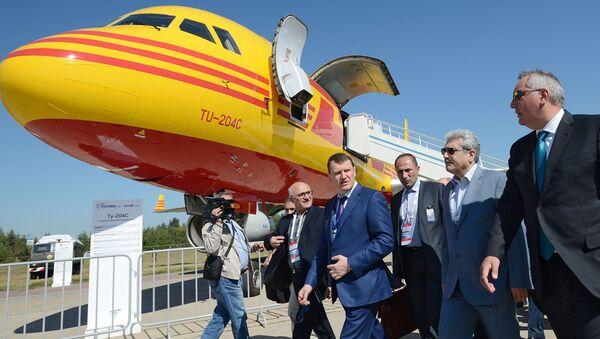Wiceszef rządu FR Dmitrij Rogozin i wiceprezydent Iranu Soren Sattary na inauguracji MAKS 2015 - Sputnik Polska