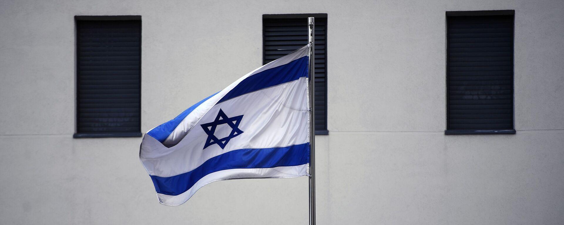 Flaga na budynku ambasady Izraela w Moskwie  - Sputnik Polska, 1920, 30.06.2021