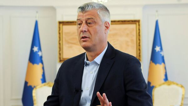 Prezydent Kosowa Hashim Thaçi - Sputnik Polska