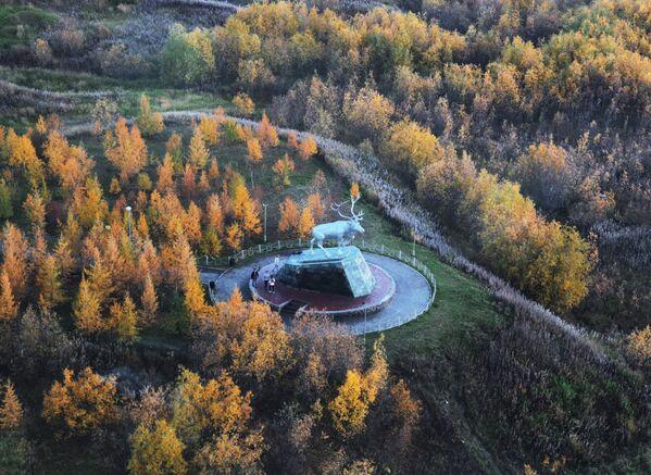 Pomnik renifera w Salechardzie - Sputnik Polska