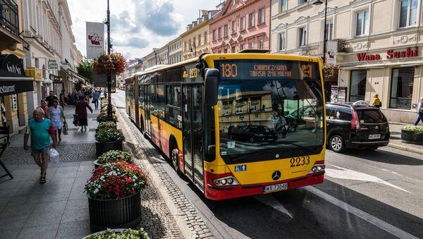 Autobusy miejskie w Warszawie. - Sputnik Polska