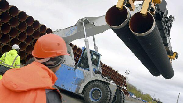 Rury dla Nord Stream 2 - Sputnik Polska