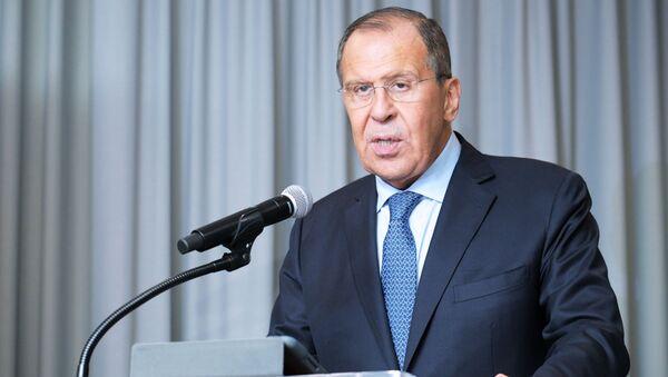 Szef MSZ Rosji Siergiej Ławrow w siedzibie ONZ w Nowym Jorku - Sputnik Polska