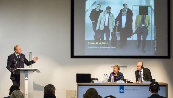 Konferencja prasowa ws. wydalenia obywateli Rosji z Holandii - Sputnik Polska