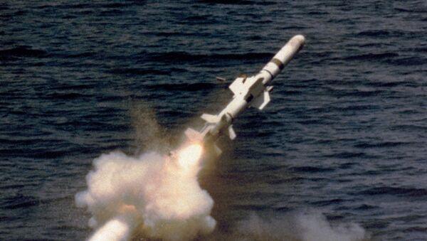 Wystrzał rakiety Garpun z okrętu podwodnego - Sputnik Polska