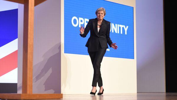 Premier Wielkiej Brytanii Theresa May na konferencji prasowej Conservative Party 2018 - Sputnik Polska