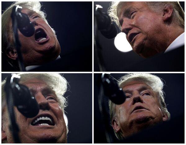 Donald Trump przemawia do zwolenników podczas Make America Great Again Rally w USA - Sputnik Polska