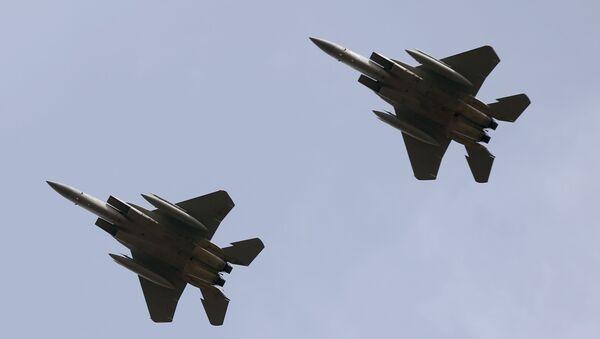 Dwa amerykańskie myśliwce F-15C Eagles - Sputnik Polska