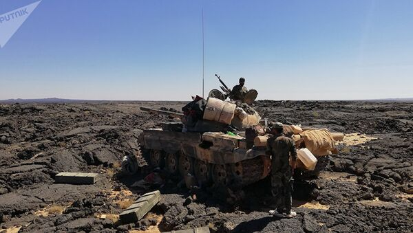 Syryjska armia walczy z terrorystami - Sputnik Polska