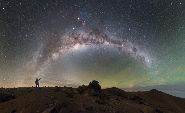 Droga Mleczna, na pustyni Atakama - Sputnik Polska