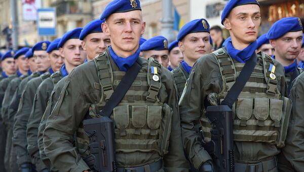 """Ukraińska armia """"pręży muskuły"""" we Lwowie - Sputnik Polska"""