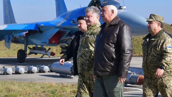 Robocza wizyta prezydenta Ukrainy Petra Poroszenki w obwodzie chmielnickim - Sputnik Polska